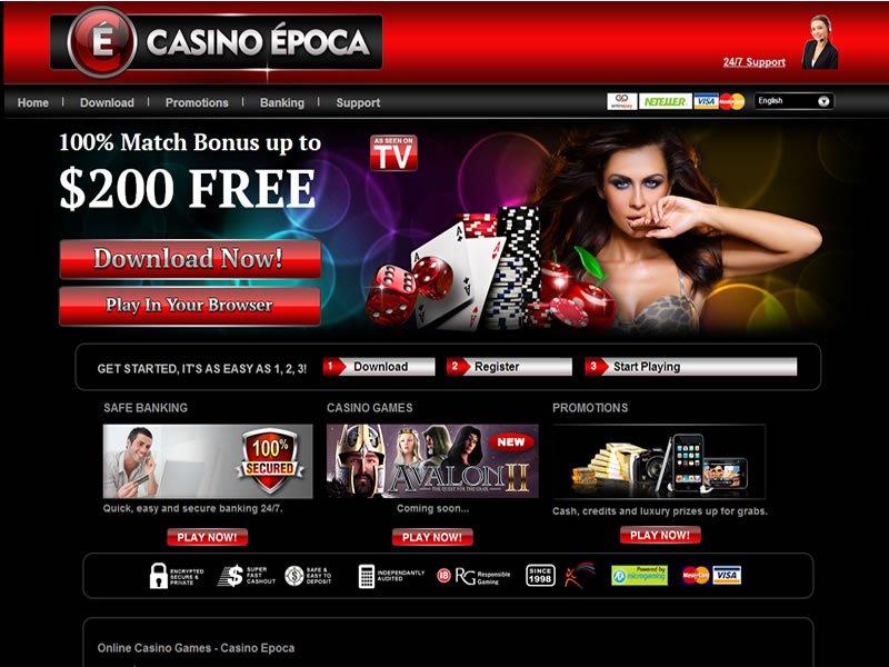 Epoca Casino - apercu de site