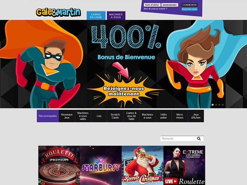 Gale&Martin Casino - apercu de site
