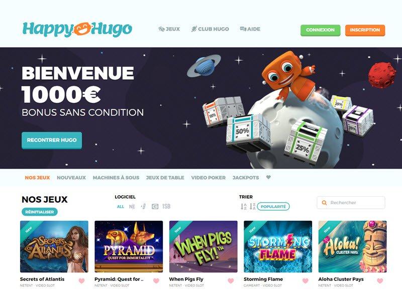 Happy Hugo - apercu de site