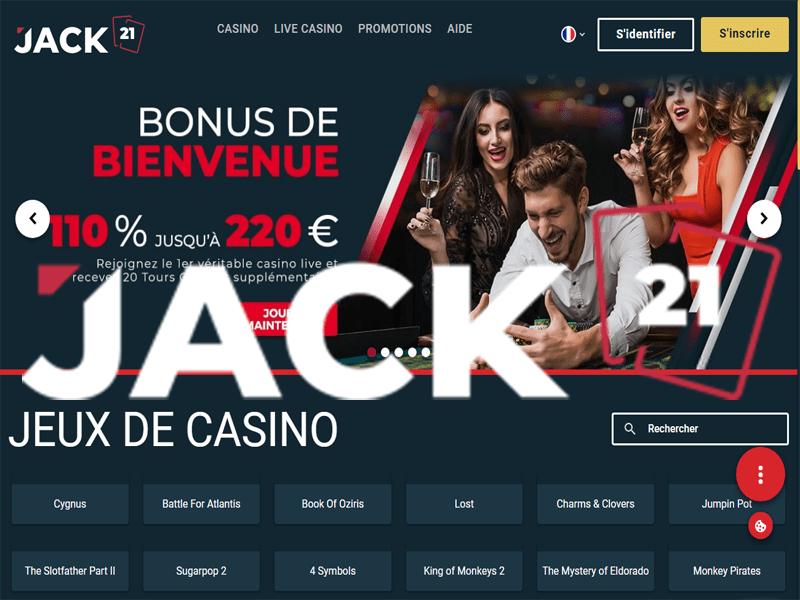 Jack21 Casino - apercu de site