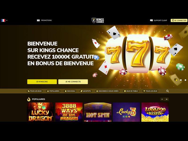 Kings Chance Casino - apercu de site