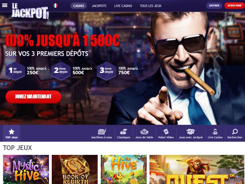 LeJackpot Casino - apercu de site