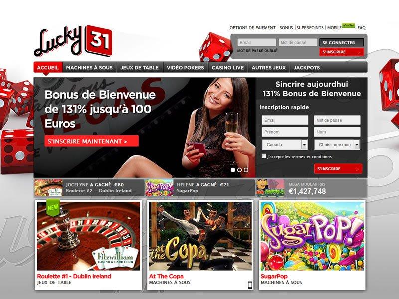 Lucky31 - apercu de site
