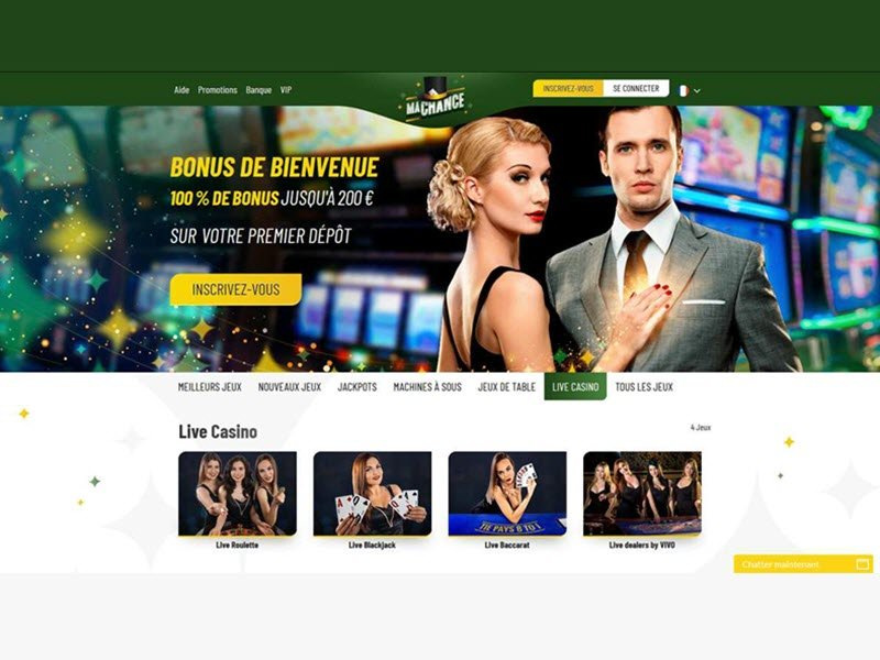 Ma Chance Casino - apercu de site