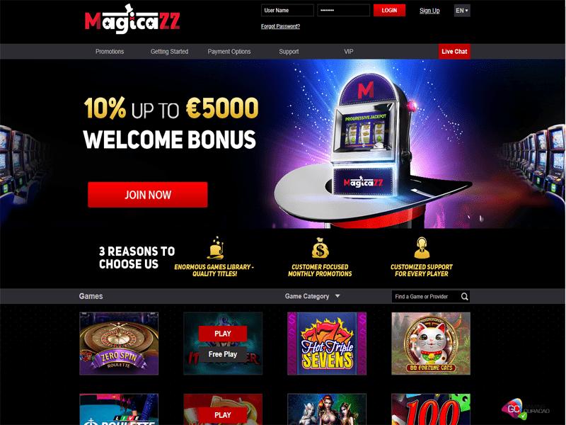 Magicazz Casino - apercu de site