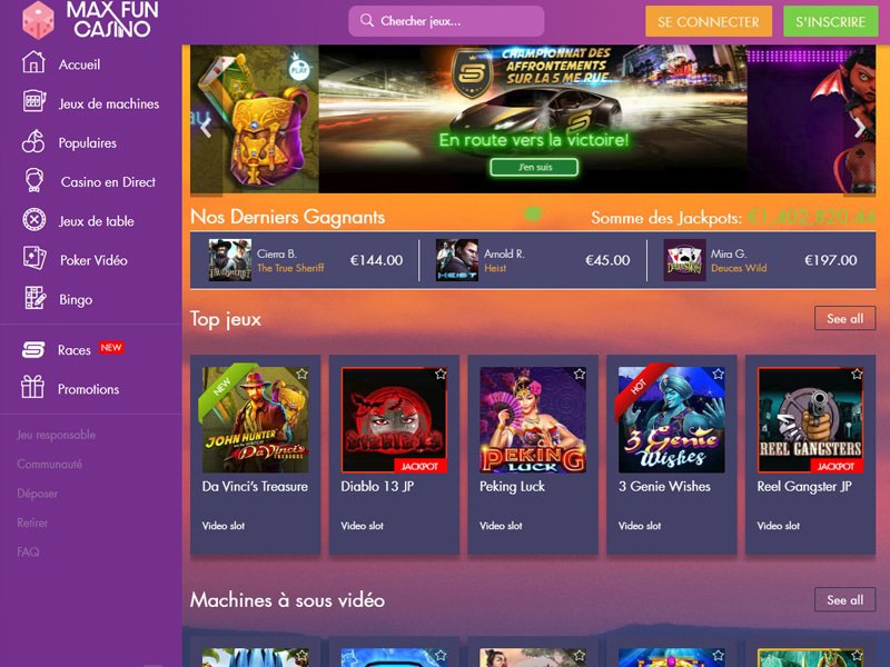 Max Fun Casino - apercu de site