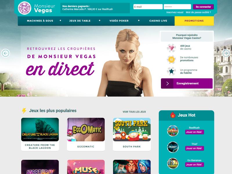 Monsieur Vegas - apercu de site