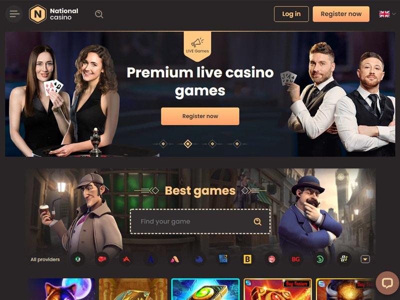 National Casino - apercu de site