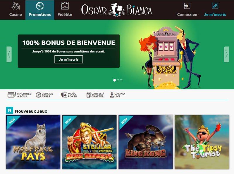 Oscar Bianca Casino - apercu de site
