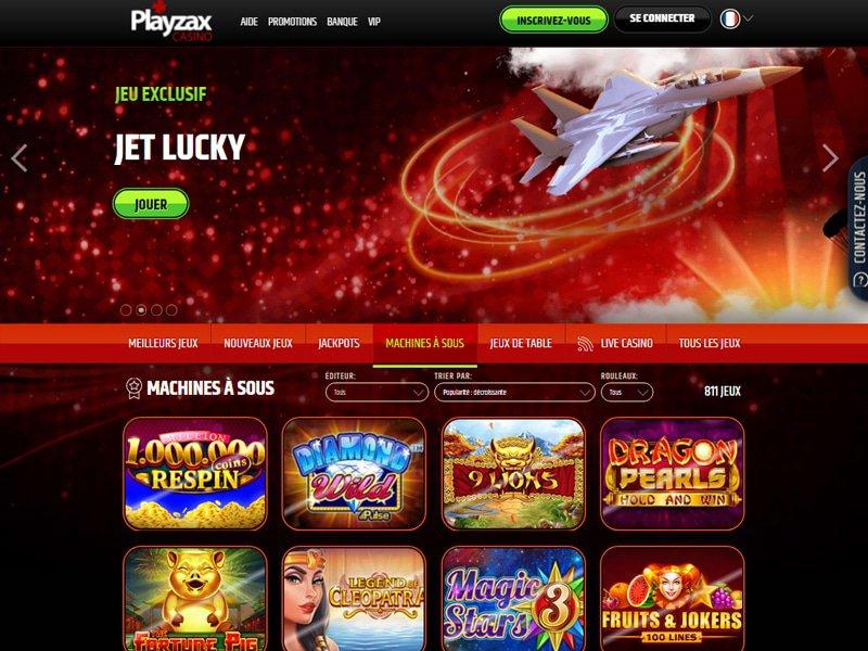 PlayZax - apercu de site
