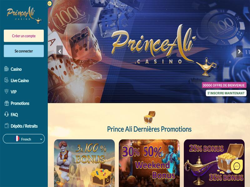 Prince Ali - apercu de site