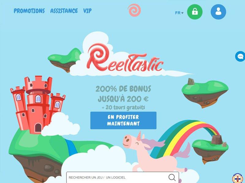 Reeltastic Casino - apercu de site
