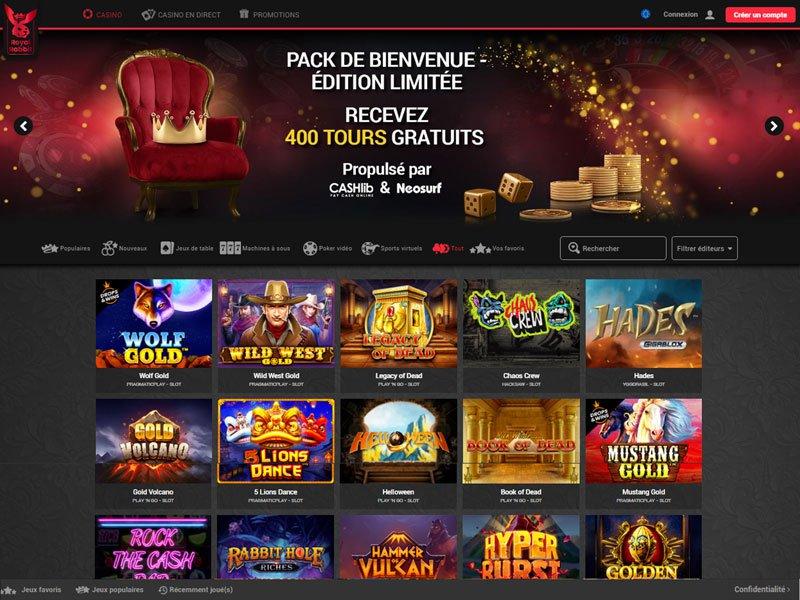 Royal Rabbit Casino - apercu de site