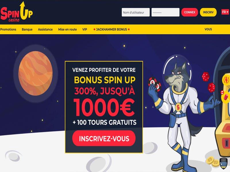 SpinUp - apercu de site