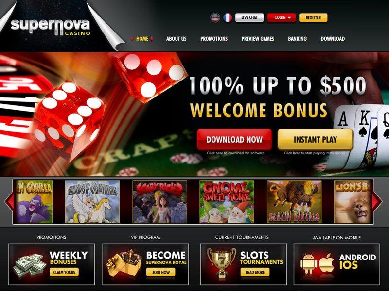 Super Nova Casino - apercu de site
