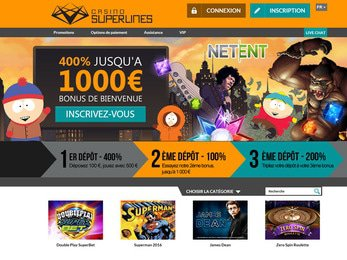 Superlines Casino - apercu de site