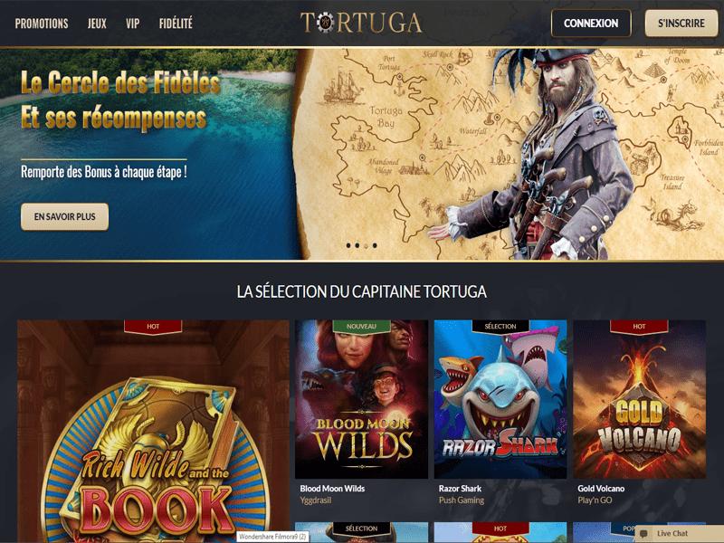 Tortuga Casino - apercu de site