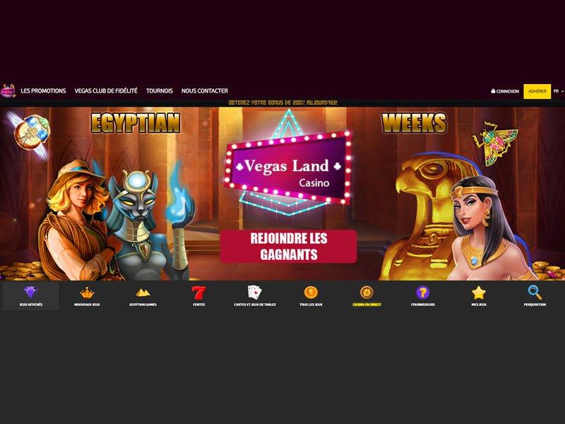 VegasLand Casino - apercu de site
