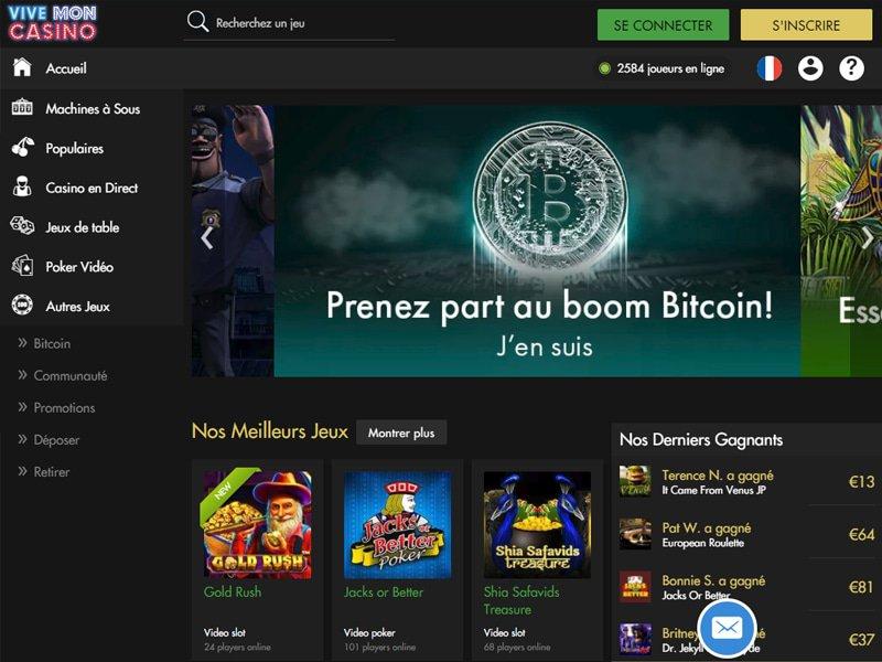 ViveMon Casino - apercu de site