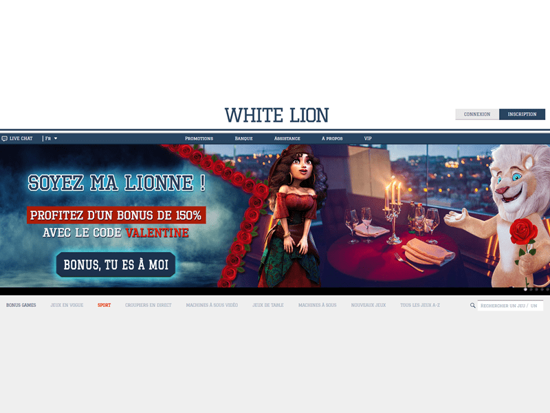 WhiteLion - apercu de site
