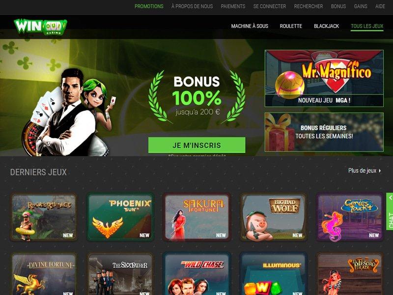 Winoui Casino - apercu de site