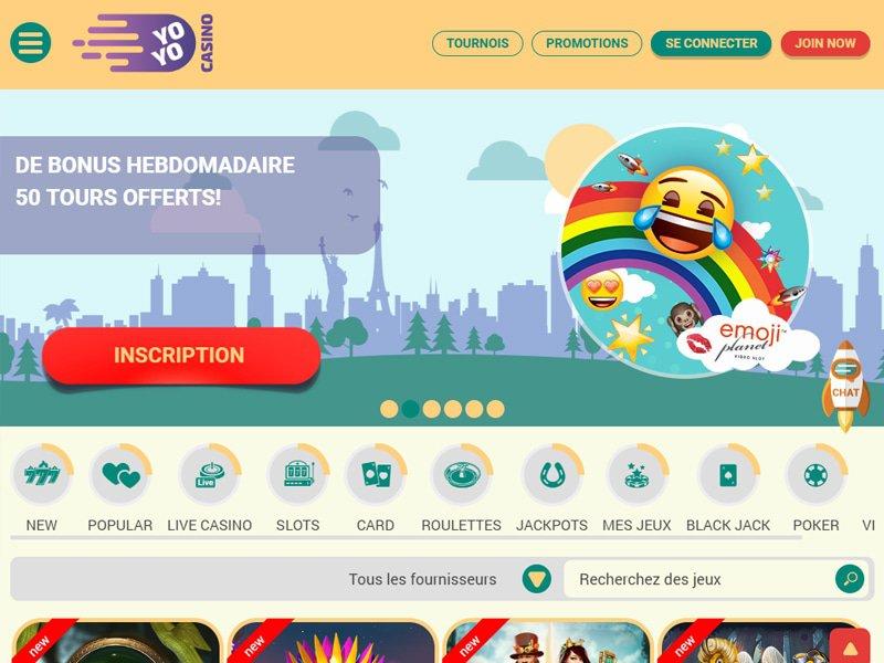 Yoyo Casino - apercu de site