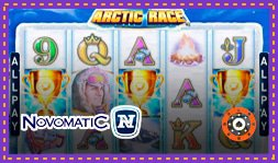 Nouveau jeu de casino Arctic Race signé Novomatic