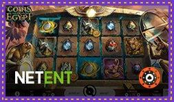 Bonus sans dépôt sur le nouveau jeu Coins of Egypt de NetEnt