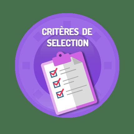 critère de sélection