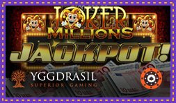 Jackpot de 3,5 millions € remporté sur Joker Millions d'Yggdrasil