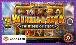 Lancement du jeu de casino Valhalla Saga Thunder of Thor