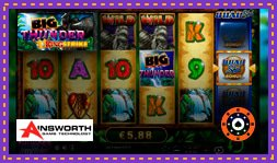 Nouveau jeu de casino Big Thunder Quad Shot de Ainsworth