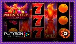 Playson lance le jeu de casino en ligne Phoenix Fire