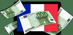 argent et drapeau français
