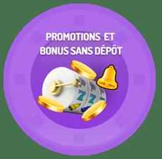 promotions et bonus sans dépôt