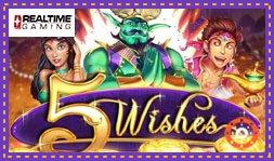 Sortie du jeu de casino 5 Wishes de RTG
