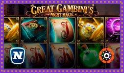 The Great Gambini's Night Magic : Jeu de casino signé Novomatic