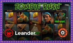 Zombie Rush Deluxe : Nouvelle machine à sous de Leander Games